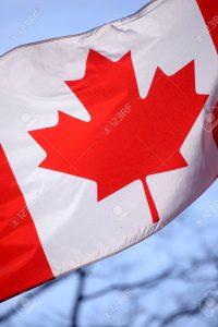 Canadian flasg waving
