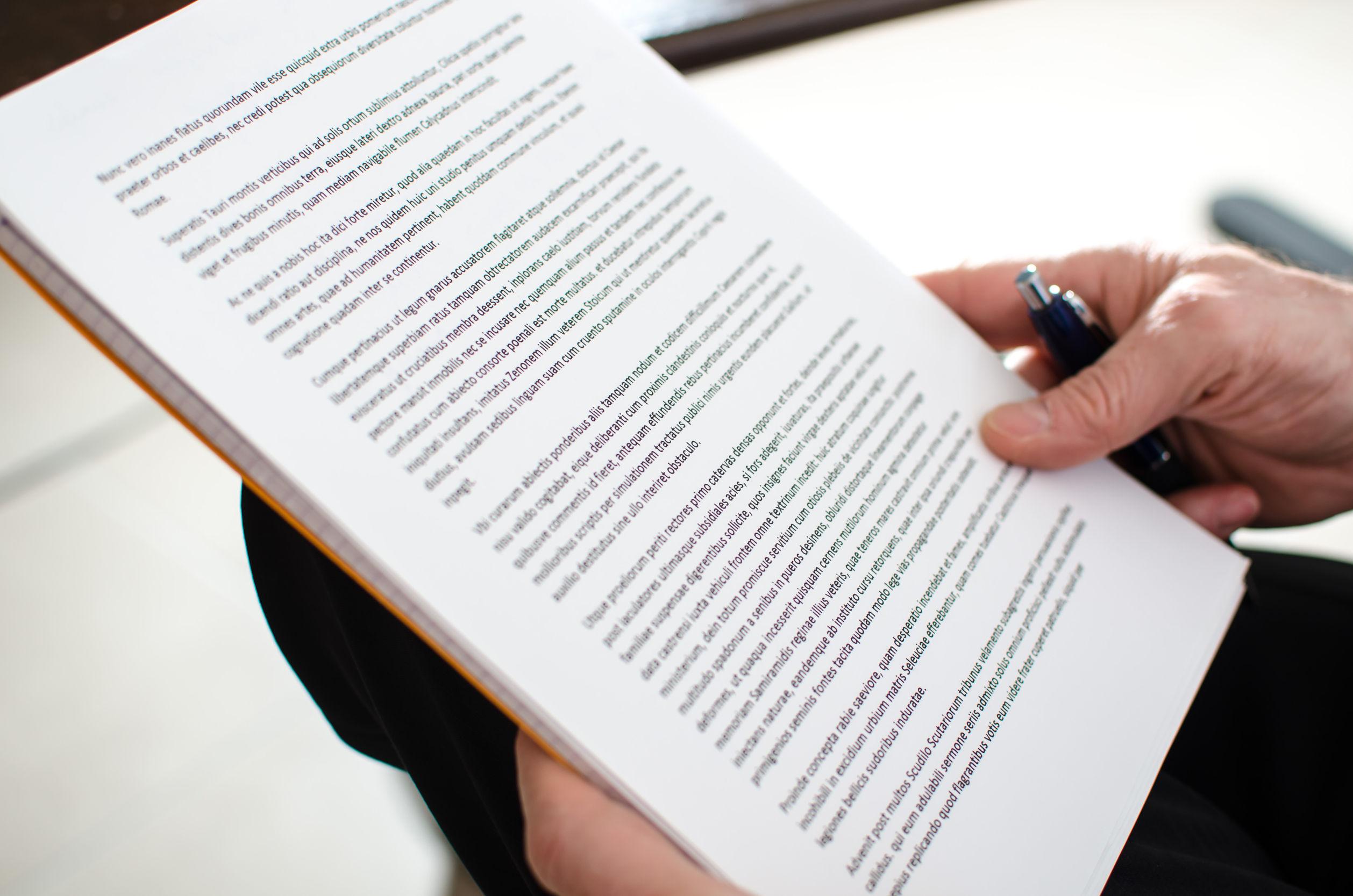 36617739 – reading documents, closeup