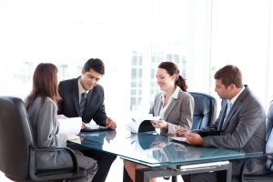 10218982 – four business people during a meeting